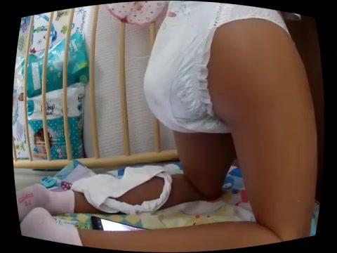 Girl Messing Her Diaper